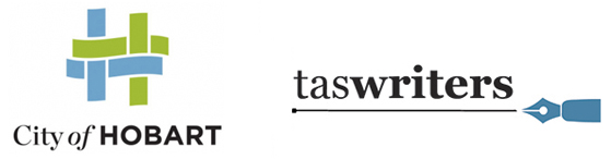 Hobart City Council and TasWriters logos